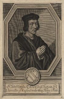 Sir John Fortescue, by William Faithorne - NPG D2357