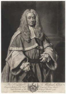 Sir Michael Foster, by John Faber Jr, after  James Wills - NPG D2359