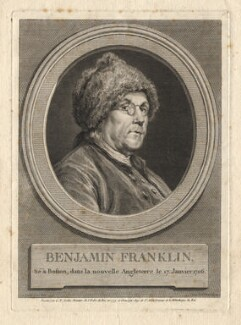 Benjamin Franklin, by Augustin de Saint-Aubin, after  Charles Nicolas Cochin - NPG D2369