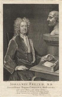 John Freind, by George Vertue, after  Michael Dahl - NPG D2374