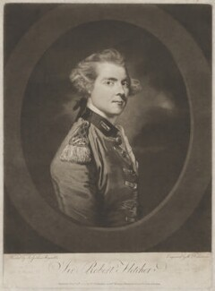 Sir Robert Fletcher, by and published by William Dickinson, after  Sir Joshua Reynolds - NPG D2386