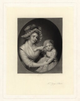 Mrs Gage & Child, by James Scott, published by  Henry Graves & Co, after  Thomas Gainsborough - NPG D2410