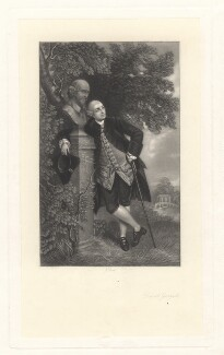 David Garrick, by James Scott, after  Thomas Gainsborough - NPG D2418