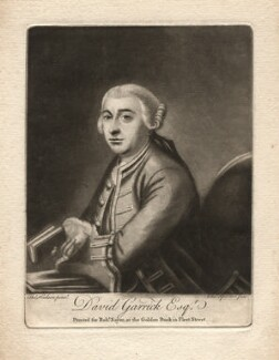 David Garrick, by Charles Spooner, after  Thomas Hudson, 1760s (1761) - NPG D2419 - © National Portrait Gallery, London
