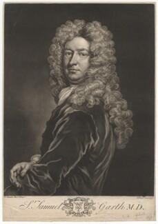 Sir Samuel Garth, by John Faber Jr, after  Sir Godfrey Kneller, Bt - NPG D2422