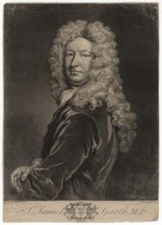 Sir Samuel Garth, by John Faber Jr, after  Sir Godfrey Kneller, Bt - NPG D2423
