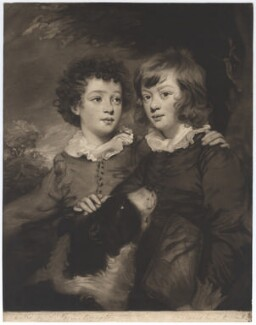 Henry Gawler; John Bellenden Gawler (later Ker), by John Raphael Smith, after  Sir Joshua Reynolds - NPG D2425