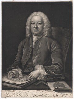 James Gibbs, by James Macardell, after  John Michael Williams, (circa 1752) - NPG D2432 - © National Portrait Gallery, London