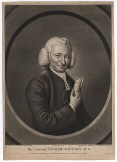 Andrew Gifford, by Richard Houston, published by  Carington Bowles, after  John Russell - NPG D2434