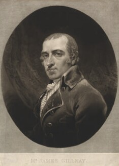 James Gillray, by Charles Turner, after  James Gillray, published 1819 (circa 1800) - NPG D2437 - © National Portrait Gallery, London