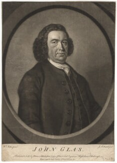 John Glas, by James Macardell, published by and sold by  Phinn & Mitchelson, possibly after  William Miller - NPG D2440