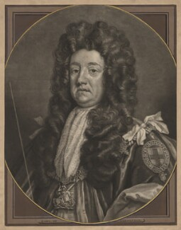 Sidney Godolphin, 1st Earl of Godolphin, by and sold by John Smith, after  Sir Godfrey Kneller, Bt, 1707 (circa 1704-1710) - NPG D2442 - © National Portrait Gallery, London