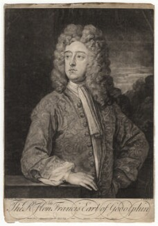 Francis Godolphin, 2nd Earl of Godolphin, by George White, after  Sir Godfrey Kneller, Bt, 1732 (circa 1710-1712) - NPG D2443 - © National Portrait Gallery, London