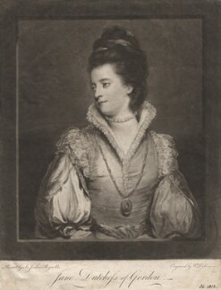 Jane Gordon (née Maxwell), Duchess of Gordon, by William Dickinson, after  Sir Joshua Reynolds - NPG D2449