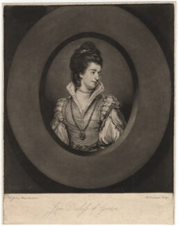Jane Gordon (née Maxwell), Duchess of Gordon, by William Dickinson, after  Sir Joshua Reynolds - NPG D2450