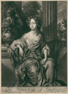 Isabella FitzRoy (née Bennet), Duchess of Grafton, by Jan Verkolje, after  Willem Wissing - NPG D2464