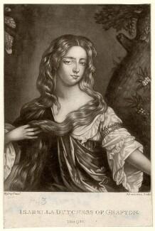 Isabella FitzRoy (née Bennet), Duchess of Grafton, by Robert Dunkarton, after  Willem Wissing - NPG D2468