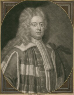 John Carteret, 2nd Earl Granville when Baron Carteret, by Peter Pelham, after  Sir Godfrey Kneller, Bt - NPG D2479