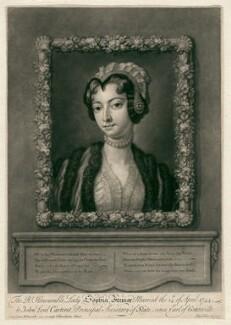 Sophia Carteret (née Fermor), Countess Granville, by John Faber Jr, after  Lady Anne Wentworth - NPG D2482