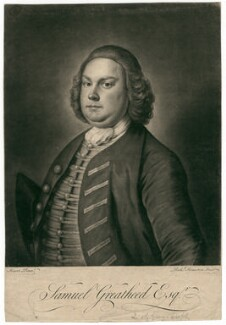 Samuel Greatheed, by Richard Houston, after  William Hoare - NPG D2485