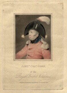 Lieutenant-Colonel Gore, by Charles Turner, published by and after  S.F. Downman - NPG D2490