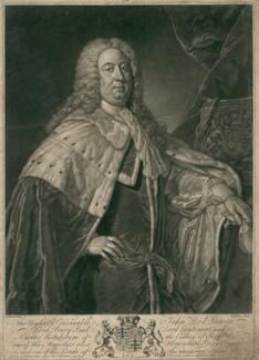 John Leveson-Gower, 1st Earl Gower, by John Faber Jr, after  Jean Baptiste van Loo - NPG D2491