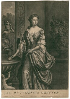 Isabella FitzRoy (née Bennet), Duchess of Grafton, by Bernard Lens (II), after  Sir Godfrey Kneller, Bt - NPG D2492