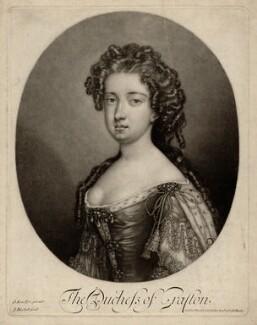 Isabella FitzRoy (née Bennet), Duchess of Grafton, by Isaac Beckett, after  Sir Godfrey Kneller, Bt - NPG D2493