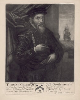 Sir Thomas Gresham, by John Faber Sr - NPG D2501