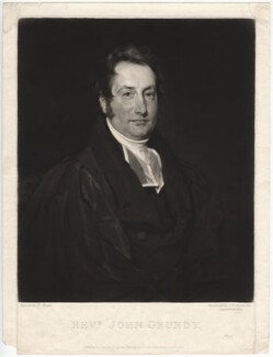 John Grundy, by Samuel William Reynolds, published by  Agnew & Zanetti, after  Henry Wyatt - NPG D2503