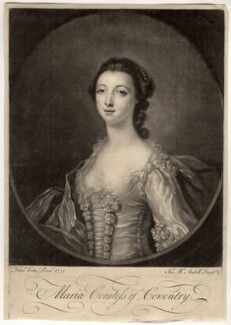 Maria (née Gunning), Countess of Coventry, by James Macardell, after  Francis Cotes - NPG D2508