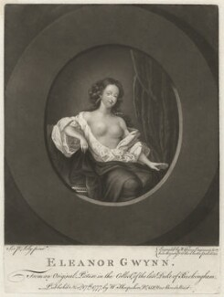 Nell Gwyn, by Valentine Green, published by  Walter Shropshire, after  Simon Verelst - NPG D2515