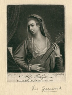 Mrs Greenwood (née Fordyce), by Richard Purcell (H. Fowler, Charles or Philip Corbutt), after  Sir Joshua Reynolds - NPG D2520