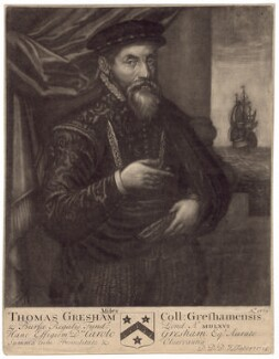 Sir Thomas Gresham, by John Faber Sr - NPG D2525