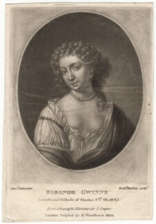 Nell Gwyn, by Richard Earlom, published by  Samuel Woodburn, after  Samuel Cooper - NPG D2544