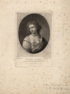 Nell Gwyn, by Richard Earlom, published by  Samuel Woodburn, after  Samuel Cooper - NPG D2546