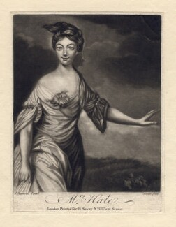 Mary Hale (née Chaloner) as Euphrosyne, by Richard Purcell (H. Fowler, Charles or Philip Corbutt), published by  Robert Sayer, after  Sir Joshua Reynolds - NPG D2549