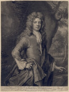 Charles Montagu, 1st Earl of Halifax, by John Smith, after  Sir Godfrey Kneller, Bt - NPG D2558