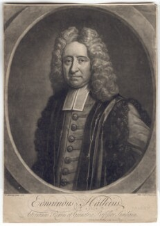 Edmond Halley, by John Faber Jr, published by  John Bowles, after  Thomas Murray - NPG D2560