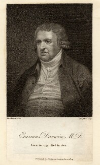 Erasmus Darwin, by Moses Haughton the Younger, published by  Joseph Johnson, after  J. Rawlinson, published 1 January 1807 - NPG D2565 - © National Portrait Gallery, London