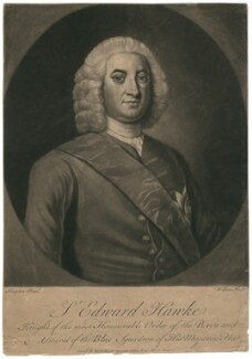 Edward Hawke, 1st Baron Hawke, by James Wilson, after  George Knapton - NPG D2566