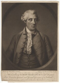 Simon Harcourt, 1st Earl Harcourt, by Edward Fisher, after  Robert Hunter, published 16 August 1775 (1772-1775) - NPG D2567 - © National Portrait Gallery, London
