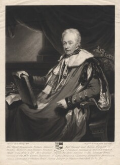 William Harcourt, 3rd Earl Harcourt, by Samuel William Reynolds, after  Henry Edridge - NPG D2568