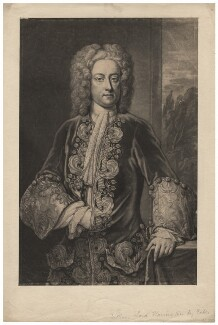 William Stanhope, 1st Earl of Harrington, by John Faber Jr, after  John Fayram - NPG D2575