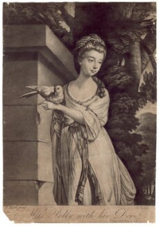 Polly Harrison ('Miss Polly with her Dove'), after Tilly Kettle - NPG D2578