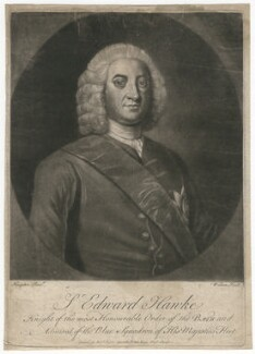 Edward Hawke, 1st Baron Hawke, by James Wilson, after  George Knapton - NPG D2584