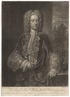 William Stanhope, 1st Earl of Harrington, by John Faber Jr, after  John Fayram - NPG D2596