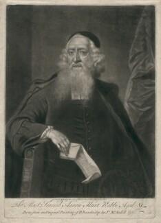 Aaron Hart, by James Macardell, after  Bartholomew Dandridge - NPG D2601