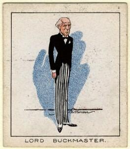 Stanley Owen Buckmaster, 1st Viscount Buckmaster, by Tom Cottrell, 1929 - NPG D2608 - © National Portrait Gallery, London