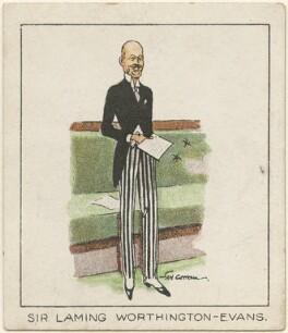 Sir (Worthington) Laming Worthington-Evans, 1st Bt, by Tom Cottrell - NPG D2641
